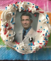 Dr. Anthony Fauci cookies at Uncle Mike's Bake Shoppe debuted Friday and are already proving popular.