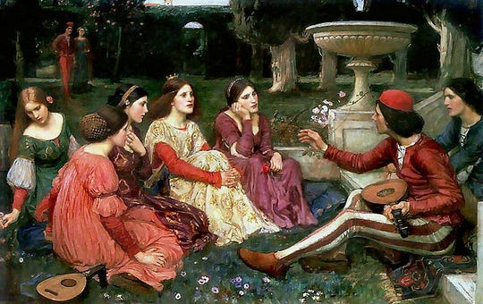 A Tale from the Decameron (1916), John William Waterhouse