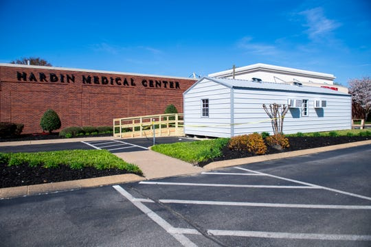 Hardin Medical Center in Savannah, TN built an external ER for patients with mild symptoms to be screened and tested for coronavirus or COVID-19. The goal is to prevent any spread of any illnesses into the hospital.