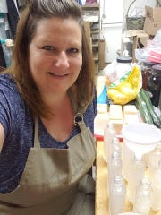 """Owner Tammy Galyon is turning out organic hand sanitizer as fast as she can make it. """"I'm happy to do it,"""" said Galyon. """"We all need it, but especially our frontline workers."""""""