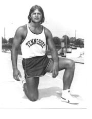 Tennessee track and field star Phil Olsen poses for a photo.