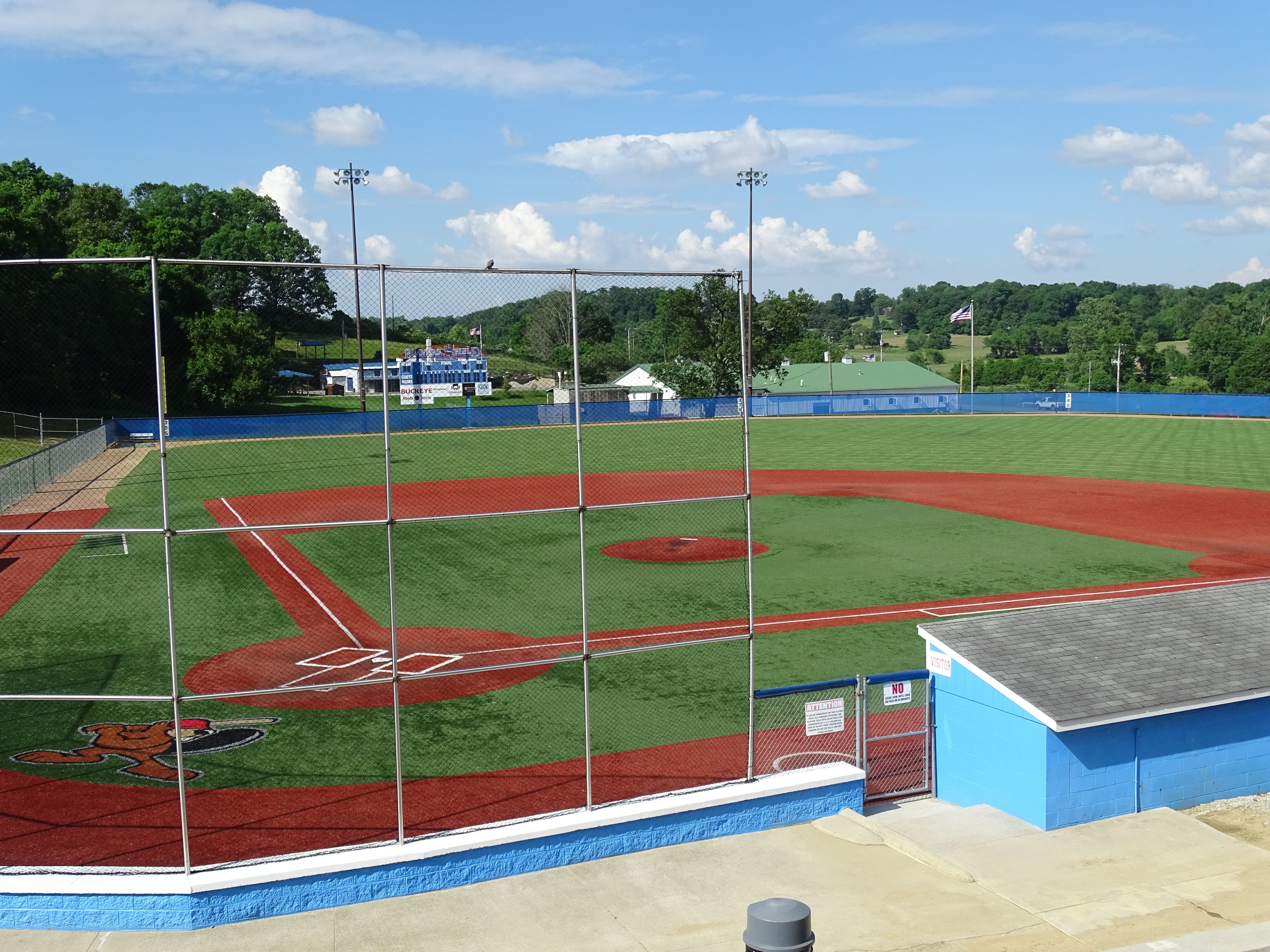 With the postpontment of high school baseball and the cancellation of the college baseball season, no games are being played at Beavers Field.