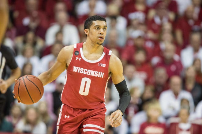 The improved play of D'Mitrik Trice was one of several reasons the Badgers were able to grab a share of the Big Ten title this season.