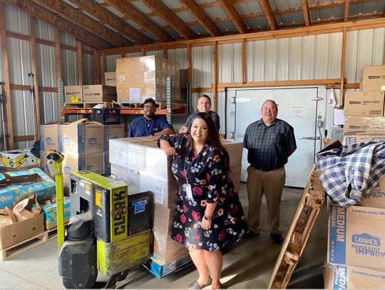 McDonald's of Mountain Home and supplier Martin Brower donated milk, apple slices, beef patties and yogurt on Friday to the Food Bank of North Central Arkansas.