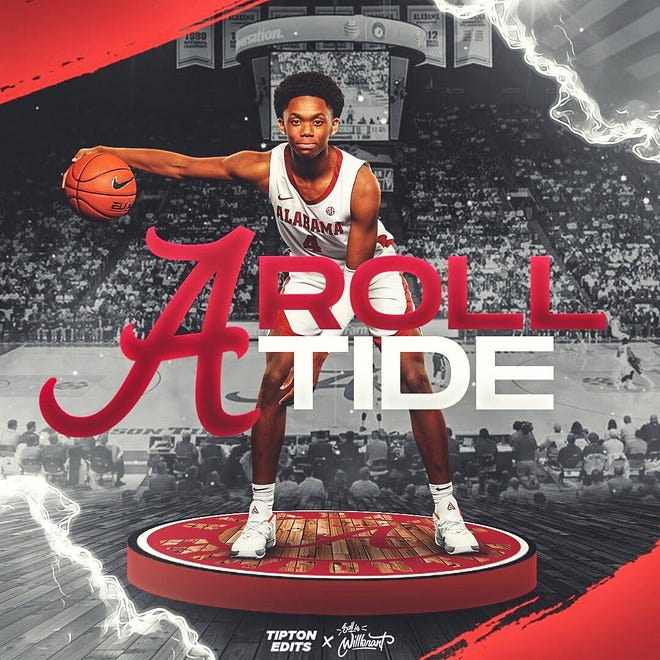 2020 four-star guard Josh Primo verbally committed to Alabama on Friday. (Courtesy of Primo's Twitter account)