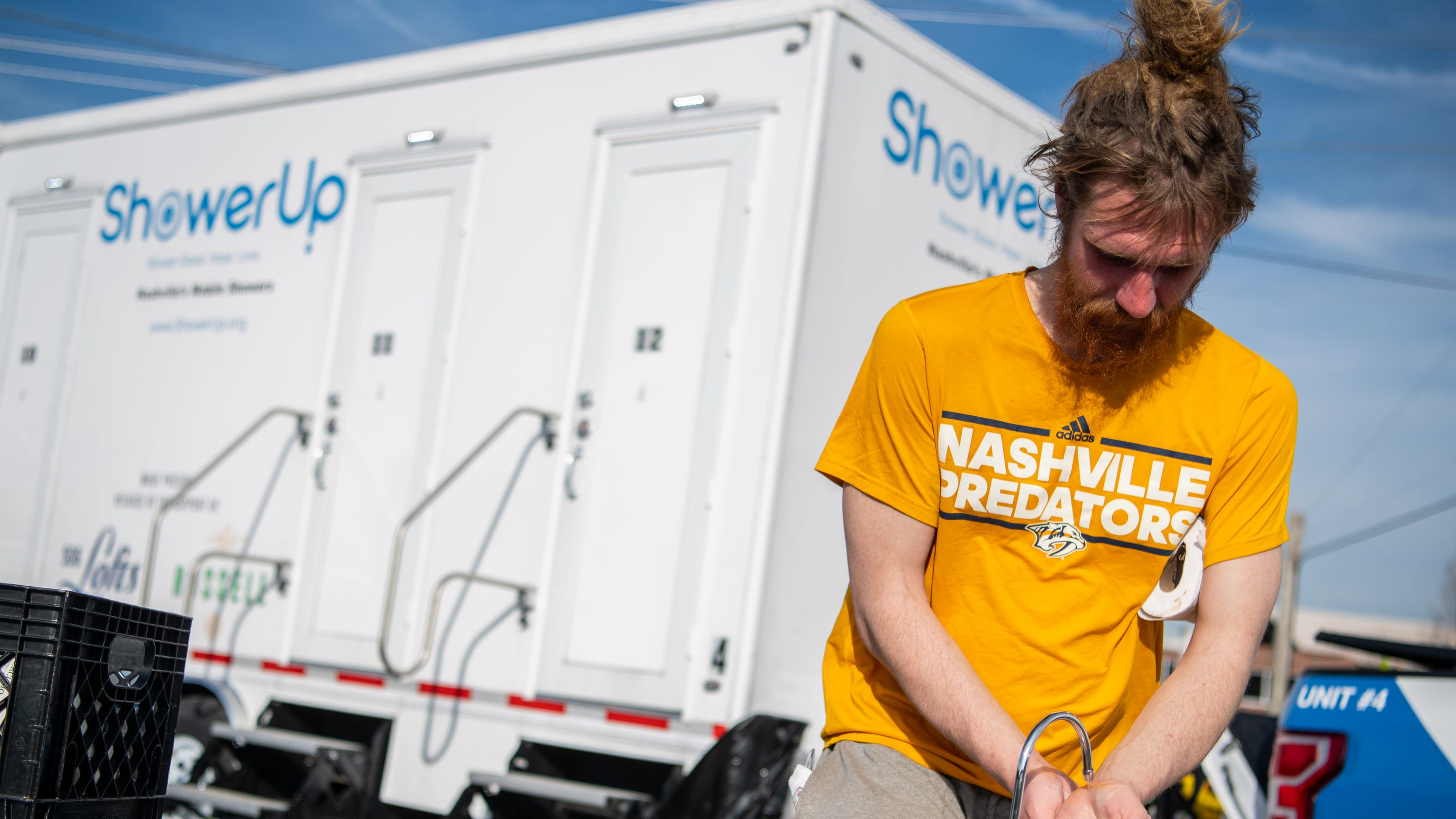 Mobile showers for the homeless were created by a guy who was afraid of people on the streets