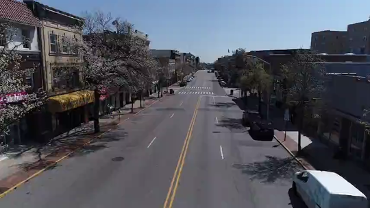 Drone footage of downtown Montclair during the coronavirus pandemic.