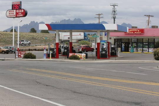 Chucky's Gas Station in Dona Ana County, was the scene of an attempted kidnapping and assault, Wednesday March 25, 2020,  until a high school wrestling star rushed from across the street, and pinned the attacker to the ground until sheriff's deputies arrived and arrested him.