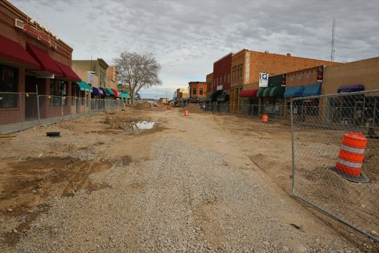 Downtown visitors should begin to see surface improvements that are part of the Complete Streets project begin by the middle of April, according to the project's website..
