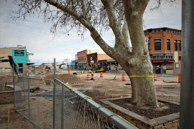 City officials say progress on the Complete Streets downtown renovation project remains on schedule despite the economic disruption caused by the coronavirus pandemic.