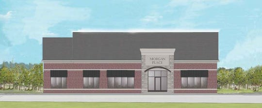 A rendering of the building proposed on the east side of Haggerty north of Eight Mile in Novi.