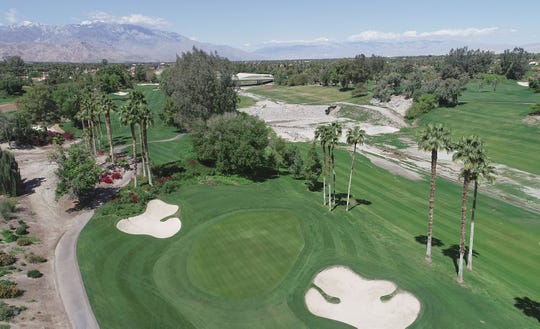 The Indian Wells Golf Resort sits silent without golfers as the coronavirus shuts down activity in the Coachella Valley, March 25, 2020.