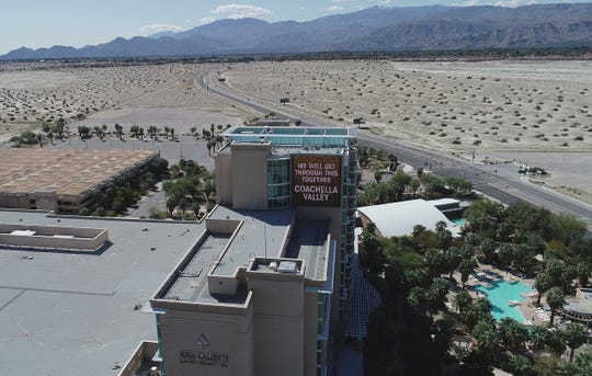 Agua Caliente Casino in Rancho Mirage is photographed on March 27, 2020. COVID-19 contingency has kept the area to limited traffic.