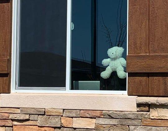 Redding grandmother Patty Santangelo has started a neighborhood bear hunt via the Nextdoor App that's catching on.