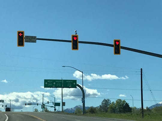 Reflective plates have been installed on the traffic signal lights on Lake Boulevard/Highway 299 in Redding. The reflectors will allow motorists to better see the intersection in the event of a power outage.