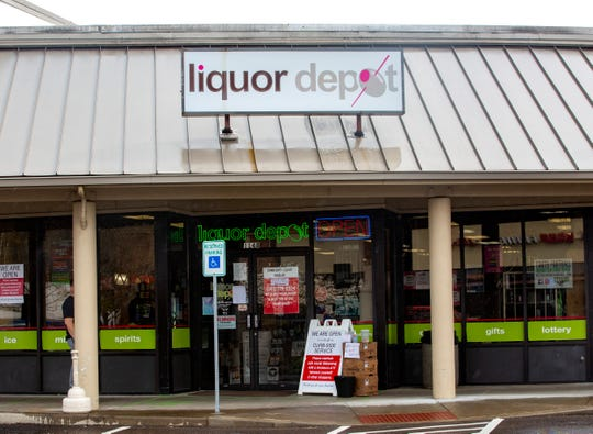 Liquor Depot in West Salem is offering curbside service to customers, eliminating the need for them to enter the store, on March 27, 2020.