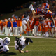 San Angelo Central quarterback Brennen Wooten leaps over an Odessa Permian defender for a touchdown in the Bobcats' 27-20 upset win over the No. 7-ranked Panthers in the 2015 regular-season finale.