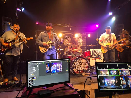 Fairfield Studio, Young Pros Entertainment, and Scott Floyd Crain partnered to produce the Shreveport Live Aid events. The series was created to offer the studio for free to allow musicians and entertainers to live stream shows as fundraisers. (Pictured: Ole Whiskey Revival)