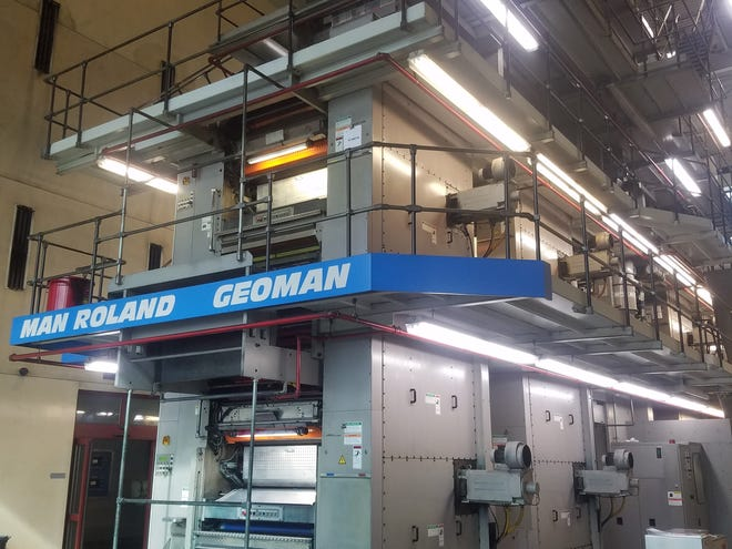 The final run of the News-Leader's press, which was installed in 2002, will be Sunday night.  The paper is not shutting down.  It will be printed on a press in Columbia and the papers will be trucked back to Springfield for delivery.