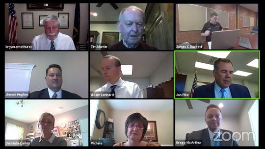 The St. George City Council held its meeting via video conference on Thursday to meet state recommendations for maintaining social distance and prevent spread of the new coronavirus.