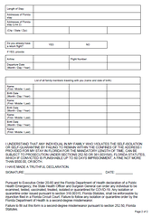 Travelers from New York, New Jersey and Connecticut must fill out this form upon arrival at Florida airports in respond to the coronavirus crisis. Those visitors are required to quarantine themselves for up to 14 days.
