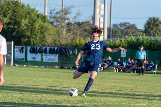 St. Edward's School midfielder Jack Zoltak