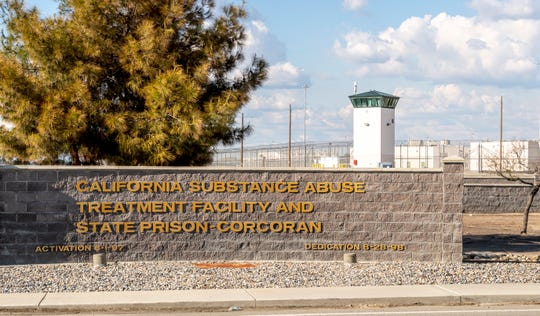 California Substance Abuse Treatment Facility and State Prison, Corcoran on Thursday, March 26, 2020.