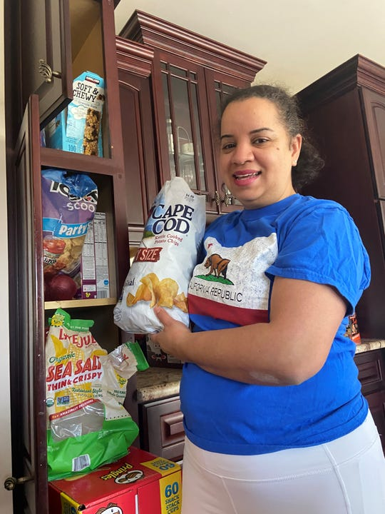 Ismeida Vasquez Santos of Nanuet has turned to potato chips during this stressful coronavirus time.