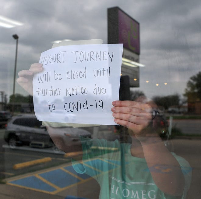 Wichita Falls yogurt restaurant closes its doors in an effort to keep the Covid-19 virus from spreading.