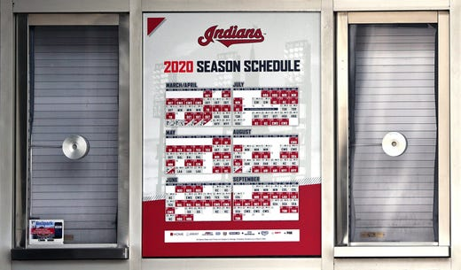 With less than an hour left until what would have been first pitch, the ticket windows at Progressive Field were all closed in Cleveland, Ohio on Mar 26, 2020. The Indians were scheduled to play the Detroit Tigers, but the season has been delayed due to the coronavirus pandemic.