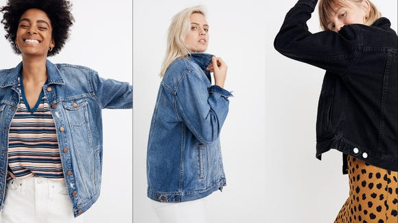 These denim jackets are great for spring and they're on sale.