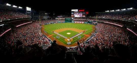 View of National Park before Game 4 of the 2019 NLCS between the St. Louis Cardinals and Washington Nationals.