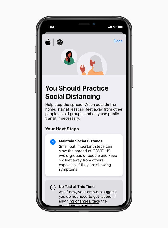 Apple launches COVID-19 app and website