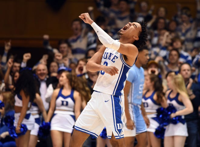 Duke's Tre Jones averaged 16.2 points per game during his sophomore season.