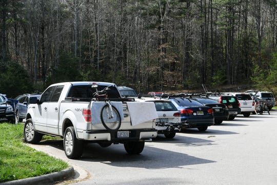 Despite the closure of facilities at Bent Creek due to COVID-19, hikers and bikers took advantage of warm weather March 27, 2020.