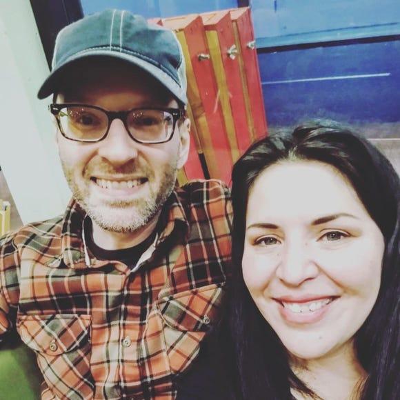 Musician Jack Parker and his girlfriend, artist Danielle Rimbert.