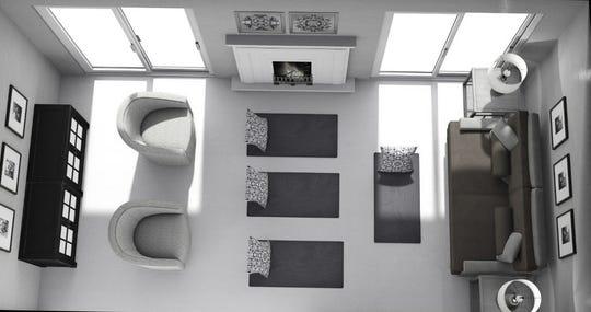A yoga/meditation room designed by Designer Lillie Canning of Ethan Allen, Whippany.
