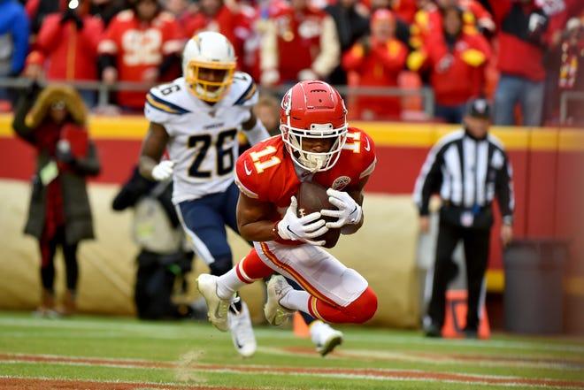 Kansas City Chiefs wide receiver Demarcus Robinson