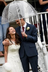 Samantha Yamasaki and Levi Mack get married on Saturday March 28, 2020. Due to the coronavirus the wedding was downsized to a few people. Friends and loved ones surprise the newlyweds with a car parade and a gathering in the street.