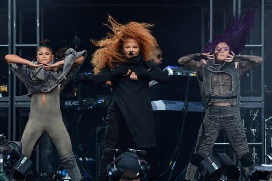 GLASTONBURY, ENGLAND - JUNE 29: Janet Jackson performs on the Pyramid Stage on day four of Glastonbury Festival at Worthy Farm, Pilton on June 29, 2019 in Glastonbury, England. Jackson will headline Essence Fest in New Orleans, which has been postponed to the fall.