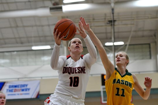 Johnstown graduate Paige Cannon averaged nine points per game this season as a senior at Duquesne.