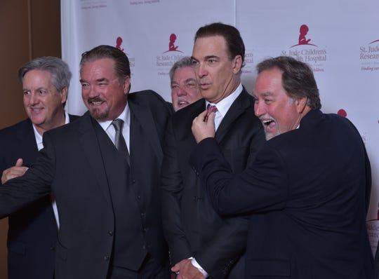 Actor pals David Naughton, John Callahan, Bruce McGill, Patrick Warburton and Richard Karn have some fun on the red carpet at a charity event benefitting St. Jude.