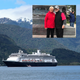 Tallahassee residents Faye and Ed Hoover and the cruise ship Zaandam.
