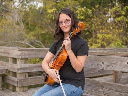 19-year-old Mira Gaitanis from Leon County won for musicianship in the Arts4All competition.