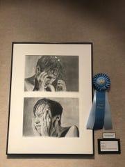"""Scarred for Life"" Graphite Drawing by Senior Portfolio Award Winner Ryan Cake from SAIL High School."