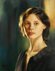 """The Lady"" Oil Painting by Senior Portfolio Award Winner Aly Hamilton from Florida State University School."