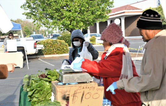 """Visalia Farmers Market is an """"essential"""" food service for the community and remains open. On Saturday, March 28, 2020, the farmers market started offering assisted shopping for community members."""