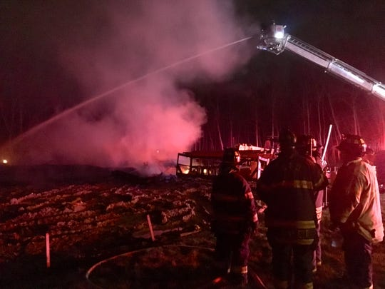 A house burned to the ground in Ogletown in the early morning hours Saturday. The cause has not yet been released.