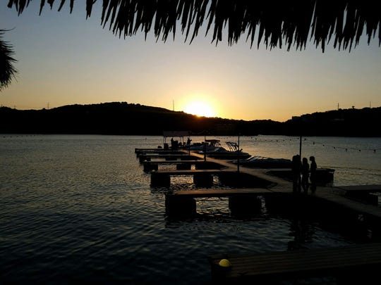 The ambiance is second to none at Hula Hut, located on Lake Austin.