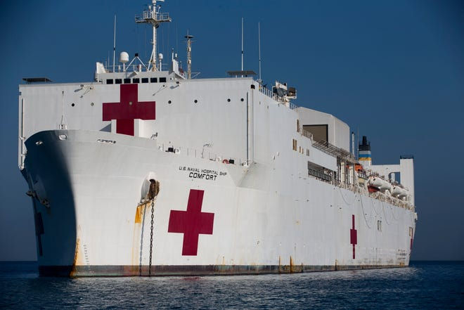 U.S. Navy hospital ship USNS Comfort is heading to New York City to help officials respond to the coronavirus pandemic.